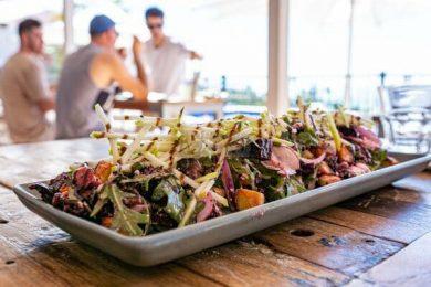 Vegetarian Superfood Salad at anchor bar, airlie beach, whitsundays