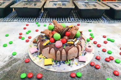 Rocky Road Ice Cream Cake, Cold Rock Ice-cream Airlie Beach, Whitsundays, Australia