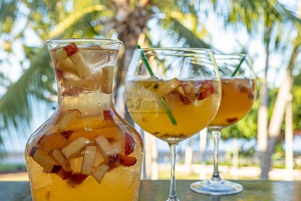 sangria jug at mika, bar and restaurant airlie beach, whitsundays