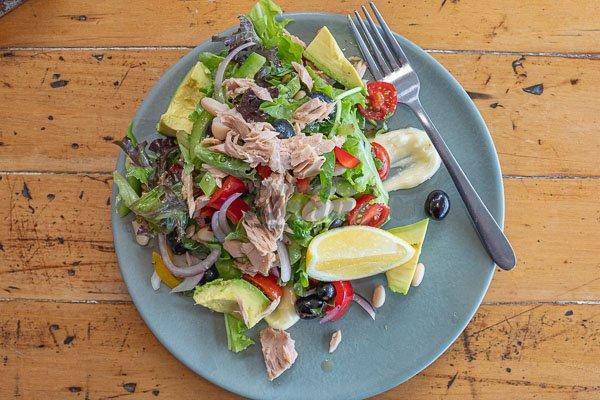 Tuna and Grape Salad at Fat Frog Beach Cafe, Cannonvale, Whitsundays