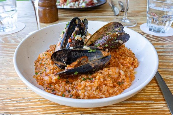 seafood risotto, Served at La Marina Xpress, Cannonvale, Whitsundays,