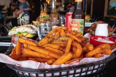 Sweet Potato Fries, Served at Little Vegas Burger & Bar, Airlie Beach, Whitsundays