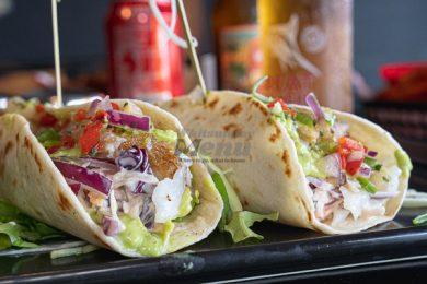 Fish Tacos, Served at Little Vegas Burger & Bar, Airlie Beach, Whitsundays