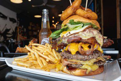 The Big Bopper, Served at Little Vegas Burger & Bar, Airlie Beach, Whitsundays