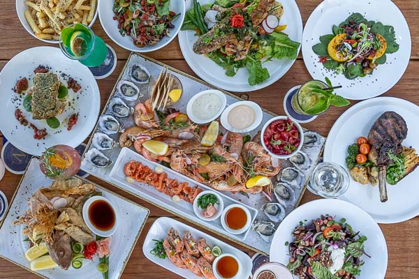 Selection of dishes served by Northerlies Beach Bar and Grill, Airlie Beach, Whitsundays