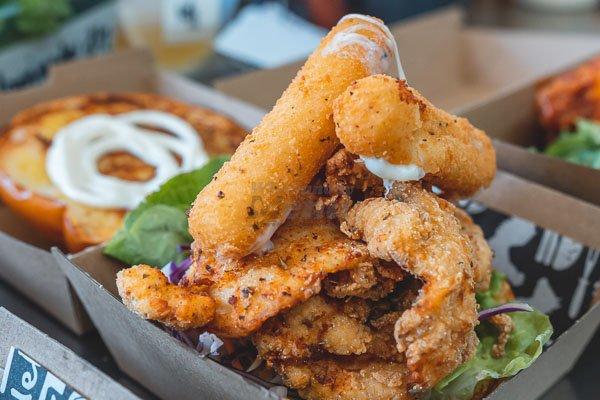 Chicken burger, by poco cucina  Airlie Beach, Whitsunday Region, Queensland