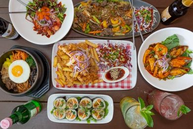 Korean Food, Served at The Red Plate, Airlie Beach, Whitsundays