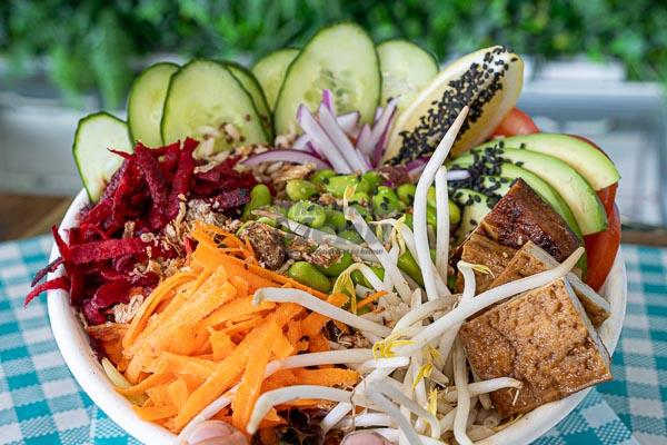 vegan poke bowl