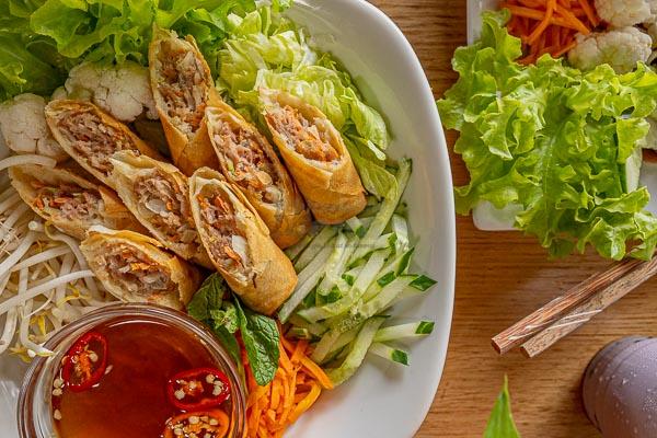 spring roll noodle salad, d'Viet House, Airlie Beach, pool restaurant