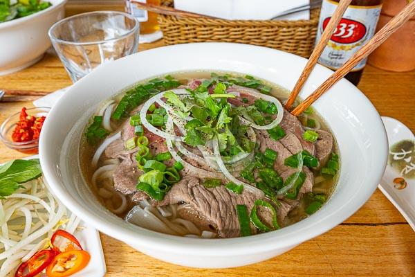 Vietnamese Pho - combination beef d'Viet House, Airlie Beach, pool restaurant