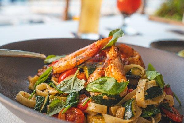 Mediterranean pasta  at Garden Bar Bistro, Airlie Beach, Whitsundays