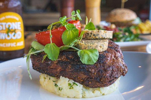 Rib Eye Scotch Fillet Steak at Northerlies Beach Bar & Grill, Airlie Beach