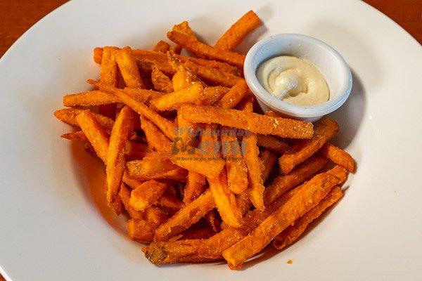 sweet potato fries at Banjos, Bar & Bistro, Cannonvale, Whitsundays