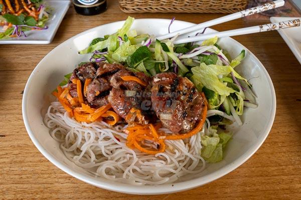 Vietnamese patty at d'Viet House, Airlie Beach, pool restaurant