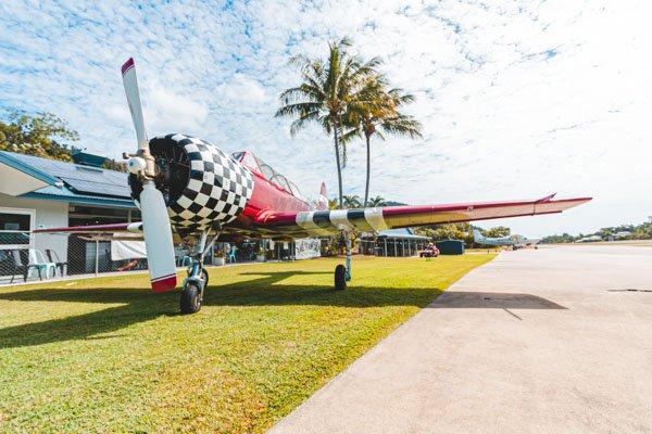 jet plane at The Hangar Cafe & Bar, Flametree, Whitsundays, Australia