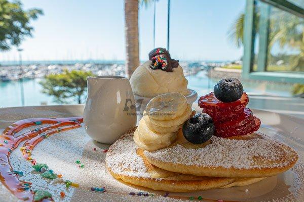 kids pancake stack, My Rainbow Bakery & Cafe, Cannonvale, Whitsunday Regions