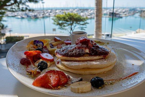 pancakes served at My Rainbow Bakery & Cafe, Cannonvale, Whitsunday Regions