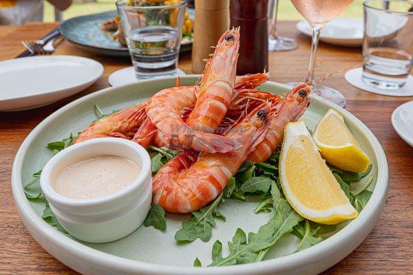 tiger prawns, Paradiso Rooftop Restaurant and Bar, Airlie Beach Main Street, Whitsundays