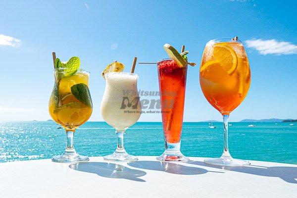 summer cocktails at Sorrento Restaurant, Airlie Beach