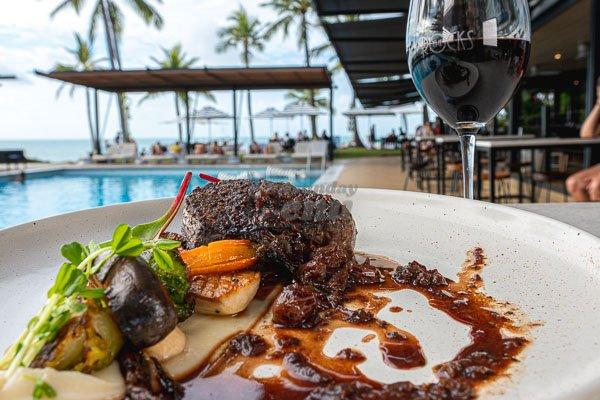 Beef Eye Fillet at The Rocks Bar & Restaurant, Coral Sea Resort, Airlie Beach, Whitsunday Region