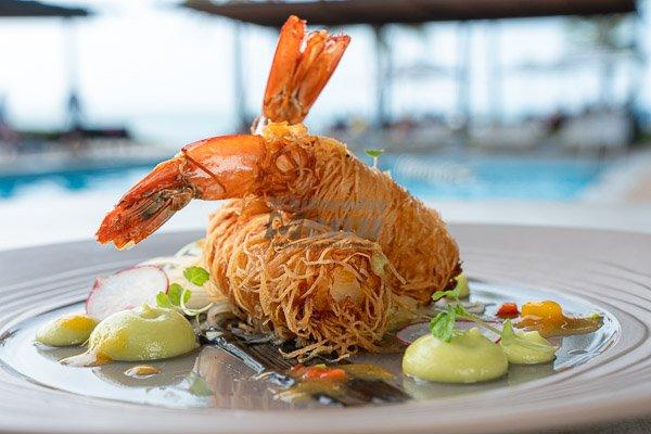 Kataifi Prawns, The Rocks Bar & Restaurant, Coral Sea Resort, Airlie Beach, Whitsunday Region