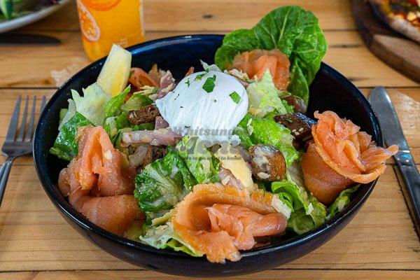 caesar salad at Airlie Beach Treehouse, Whitsundays