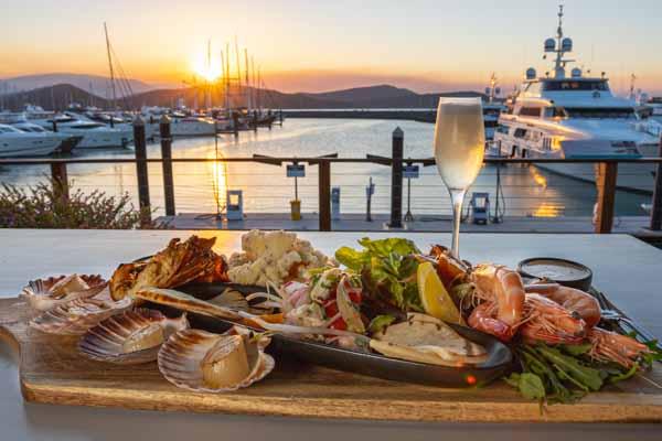seafood platter at The Garden Bar, Airlie Beach, Coral Sea Marina