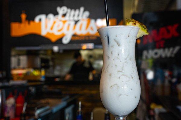 pina colada served at Little Vegas Burger & Bar, Airlie Beach, Whitsundays